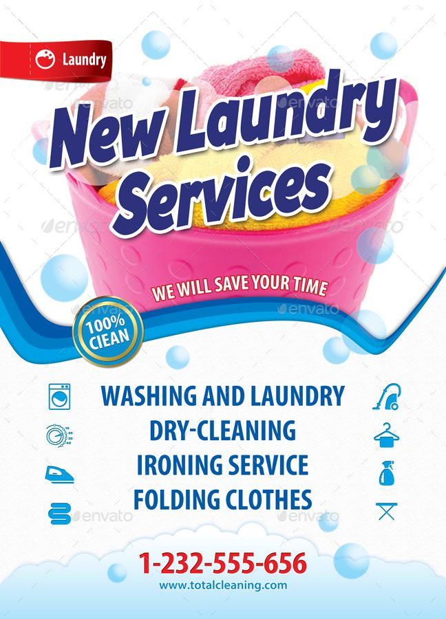 New Laundry Services Poster Template 47 Spanduk Desain