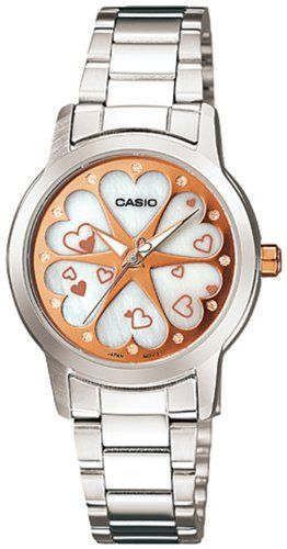 Casio Women's LTP1323D-7A2 White Stainless-Steel Quartz Watch with White Dial Casio. $42.46. 28mm Case Diameter. 50 Meters / 165 Feet / 5 ATM Water Resistant. Mineral Crystal. Quartz Movement. Save 15%!