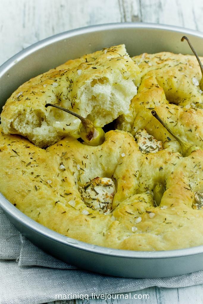mariniqq - Суп из печеных перцев. Фокачча с пепперони и фетой