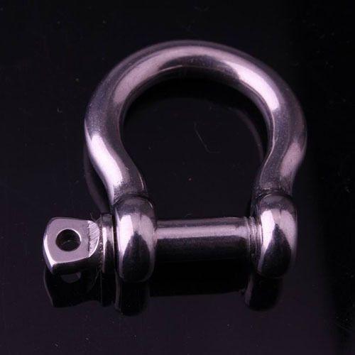 ( Мин $ 15 ) 10 pack/lot бант кандалы нержавеющая сталь для Paracord выживания браслеты