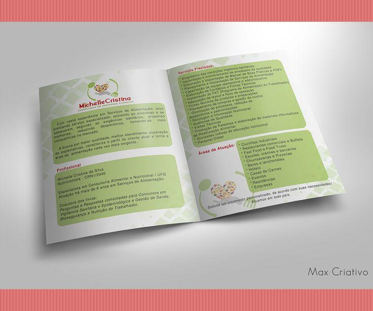 14 best Folder e Panfleto - Nutricionista \u2022 Max Criativo images on