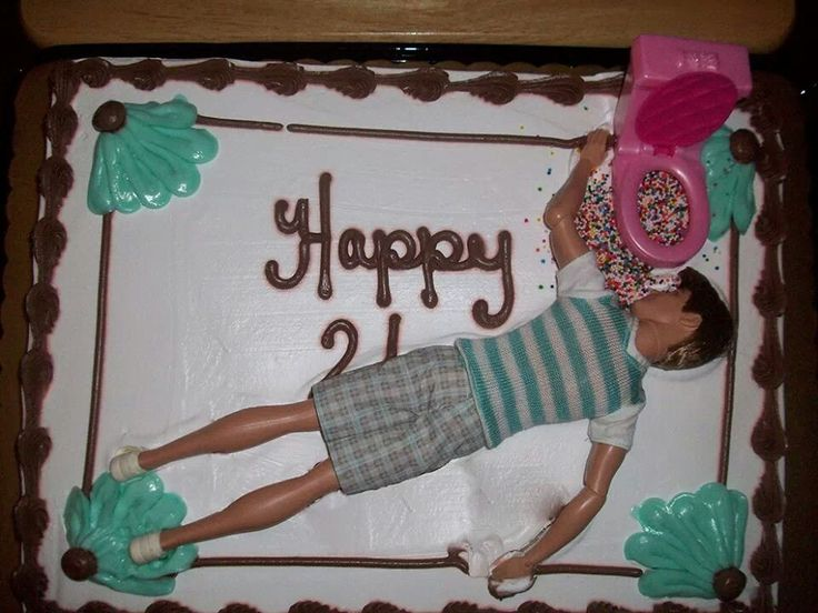 Lol, that is a funny birthday cake.