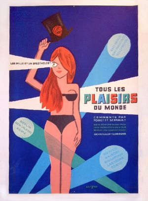 """MP904. """"Il Mondo di Notte numero 3"""" French Movie Poster by Raymond Savignac (Gianni Proia 1964) / #Movieposter"""