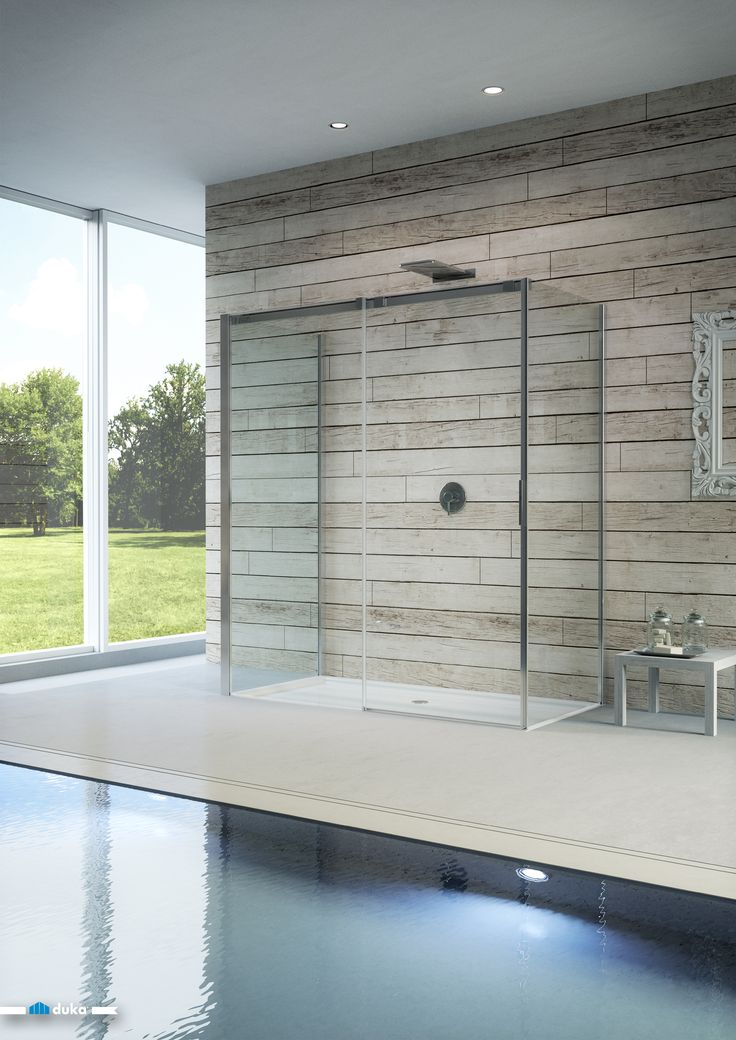 Glass is one of the best design materials to play with in shower enclosure design • add a touch of Italian design to your bathroom with our model acqua R!