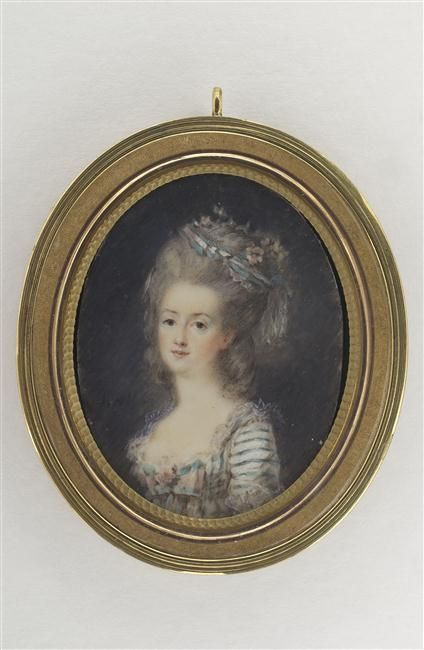 A portrait of a young woman by Peter Dolphe Hall, 18th century.[credit: © Musée du Louvre, Dist. RMN-Grand Palais / Martine Beck-Coppola]