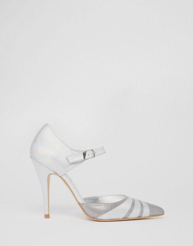 Terry de Havilland Fran Silver Irredescent Heeled Shoes - Silver