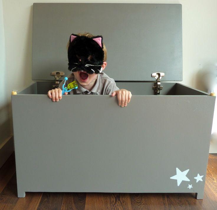coffre jouets grand mod le bois gris chambre d 39 enfant de b b par sibel coffre jouets. Black Bedroom Furniture Sets. Home Design Ideas