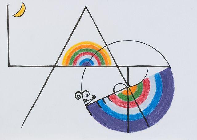 SÉRIE DE 8 TABLEAUX-POÈMES (2004) Encre, pastel, cire à cacheter sur papier   TEXTES:  1. Frontispice avec le texte du poème. 2.Plonger comme l'oiseau... 3...dans l'azur... 4...trou entre les nuées... 5...rêve de ... 6...l'arc-en-ciel... 7...pont entre les... 8...nuées.