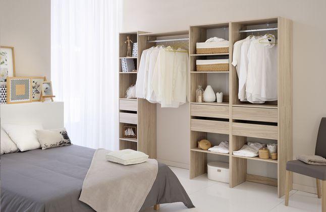 Cette colonne dressing de Parisot vous permet de configurer votre dressing Easy Dress à votre guise. #Dressing #Chambreàcoucher #Collishop
