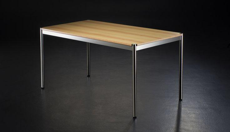 USM Haller Tisch Holz von Fritz Haller & Paul Schärer, 1962 - Designermöbel von smow.de