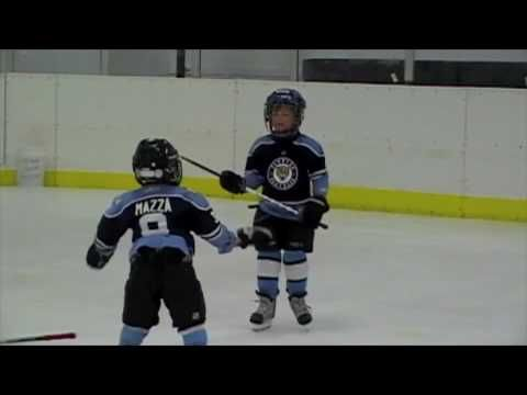@Total Hockey  Best hockey fight EVER. This is adorable. They learn so fast.♥♥♥ this will so be chris and i  kid one day