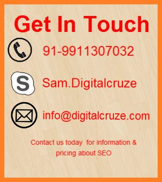 Get touch with Digital Cruze that is one of the leading SEO Company in delhi offers quality SEO Services to your business.