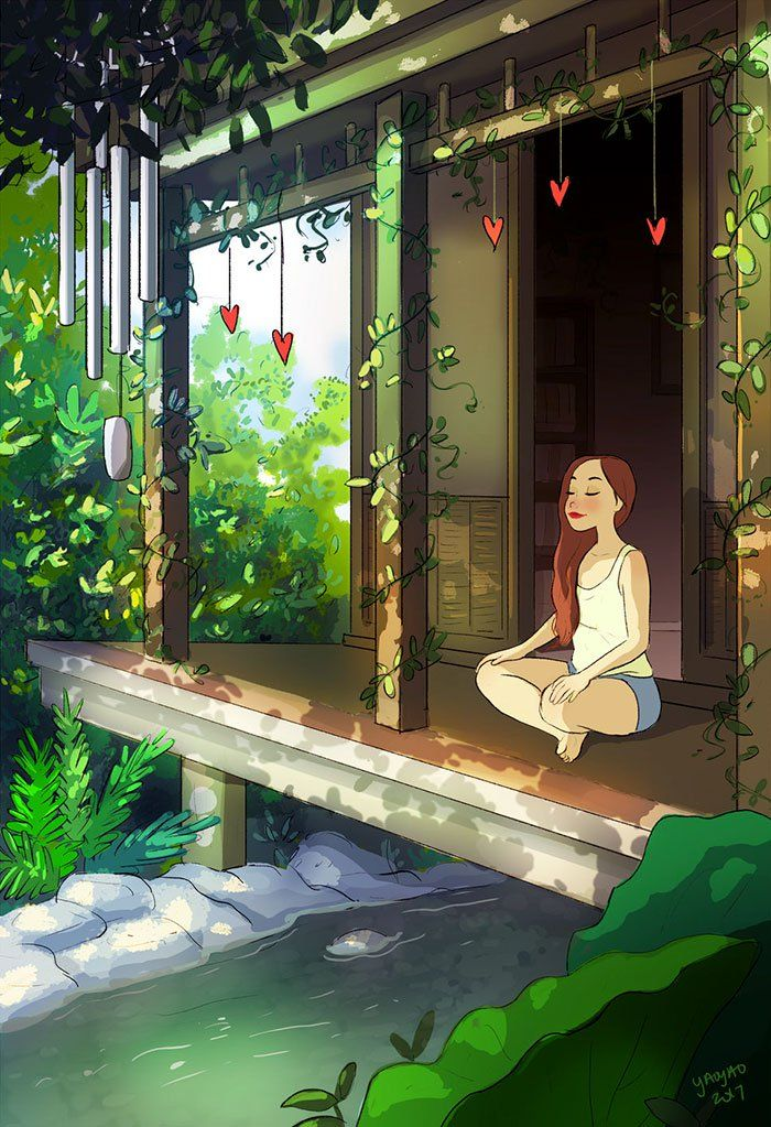 Ilustraciones que muestran la verdadera magia de vivir sola