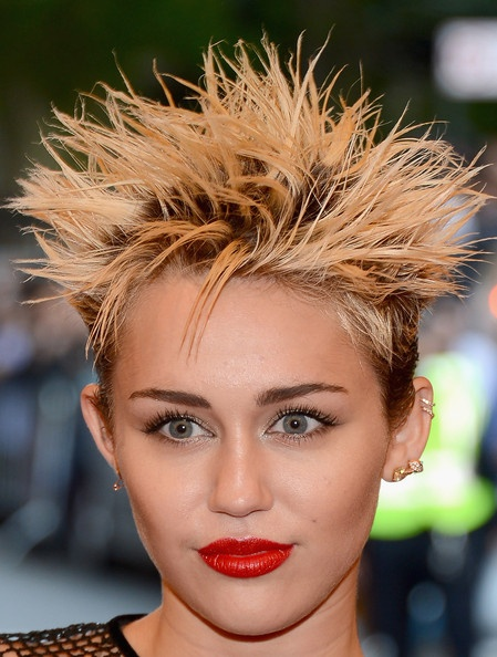 Miley Cyrus' Punked-Out Spikes. What do you think?