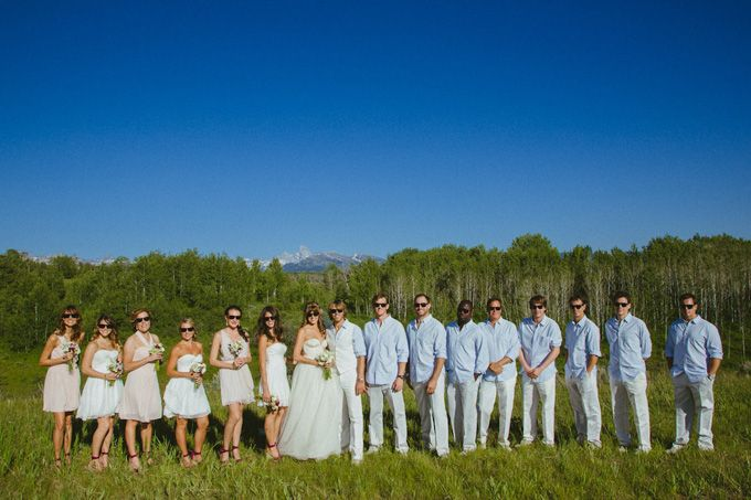 A Backyard Wedding In Jackson Hole