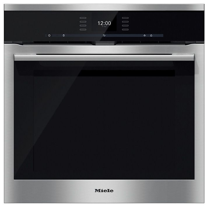 Miele H6560BP ContourLine Single Electric Oven, Clean Steel