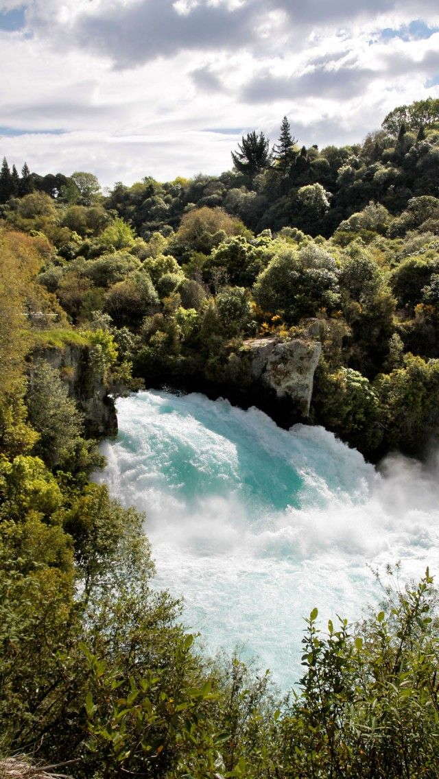 Huka Falls, Near Taupo, North Island, New Zealand