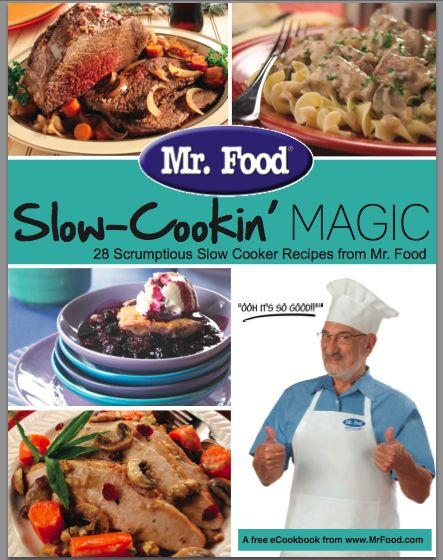 Get a Free E-Cookbook from Mr. Food With Newsletter Sign-Up