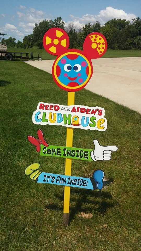 Mickey mouse clubhouse birthday Welcome Sign Reed and Aiden's Clubhouse