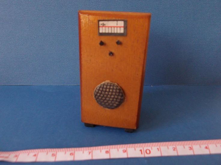 Vintage Dolls House early Barton radio | eBay