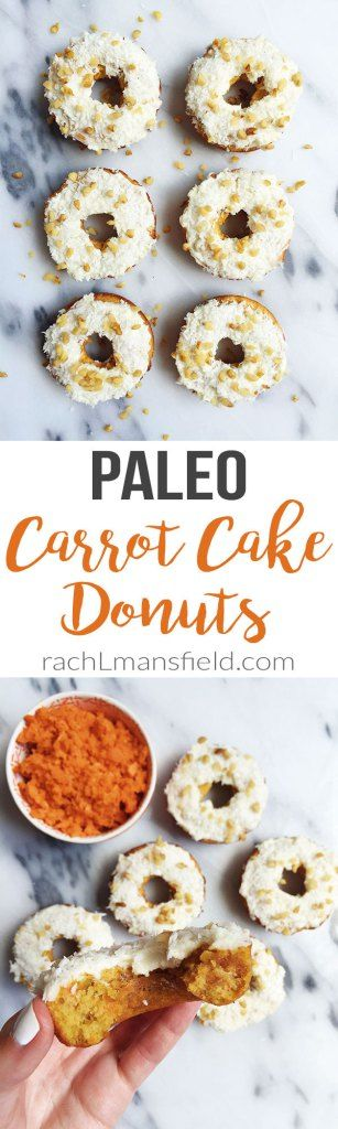 Paleo Carrot Cake Donuts made with all simple and delicious ingredients. Packed with extra veggies for a nutritious and healthy donut! (Paleo Breakfast Cake)