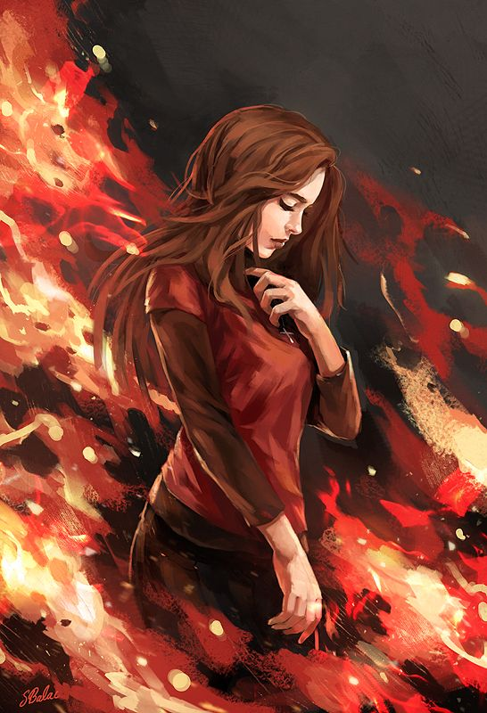 She wasn't afraid of the fire. Not now. Not after all of this. If it burned her, she didn't react. Because if it burned her, it burned Queen too, and that was all she really wanted. Queen. Dead.