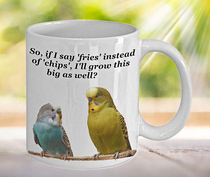 Parakeet Mug, Parakeet Print, Budgie Mug, Gift for Parakeet Lover, Budgie Mom Gift, Funny Mug, Meme Mug, Meme Gifts, Budgie Meme, Bird Mug by PortunaghDesign on Etsy