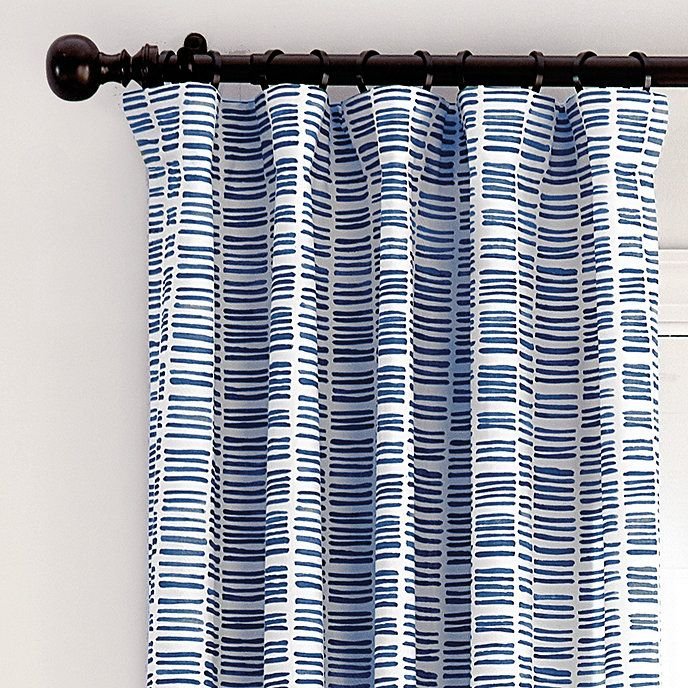 Hatch Striped Curtain Panel In 2020 Drapery Panels Striped Curtains Panel Curtains