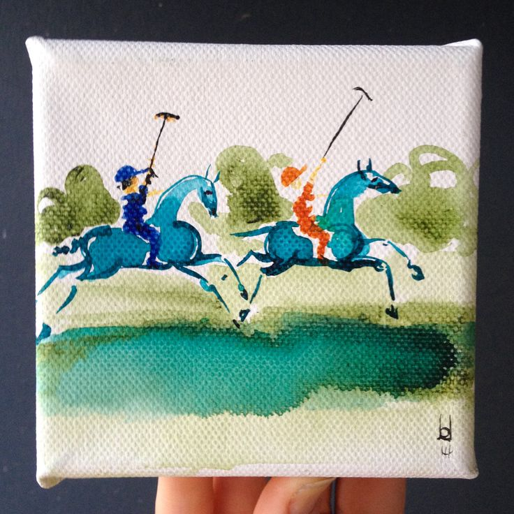Little polo paintings painted at Polo In The City 2014. Soooo much fun! Available through www.lauradouglas.com.au