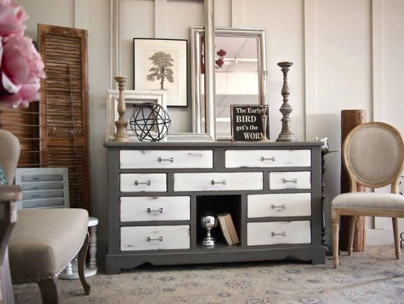Exceptional White And Grey Buffet, Dresser, Changing Table, Nursery, Dining Room,  Bedroom