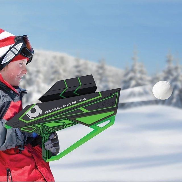 A blaster that can make snowballs and launch them up to 80 feet.
