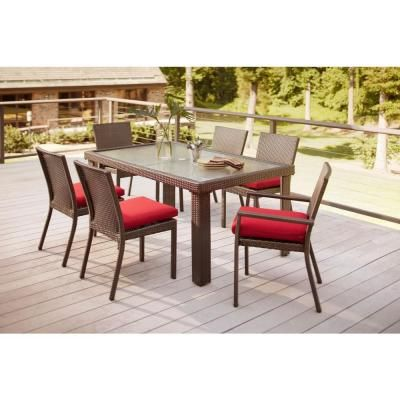 Hampton Bay Beverly 7 Piece Patio Dining Set With Dragon
