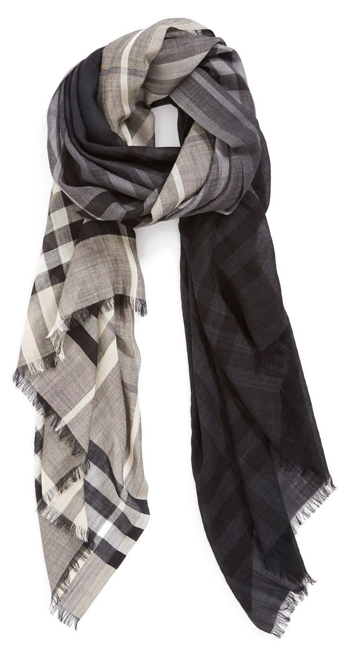 Obsessed with this ombre Burberry scarf.