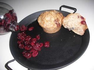 Muffin light ai mirtilli rossi e avena