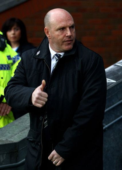 Steve Kean Photos Photos - Blackburn Rovers Manager Steve Kean gives a thumbs up prior to the Barclays Premier League match between Blackburn Rovers and Wigan Athletic at Ewood Park on May 7, 2012 in Blackburn, England. - Blackburn Rovers v Wigan Athletic - Premier League