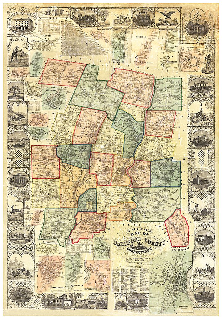 9 best connecticut antique maps images on pinterest antique maps connecticut antique maps connect us to the past quality giclee reproduction on sciox Gallery