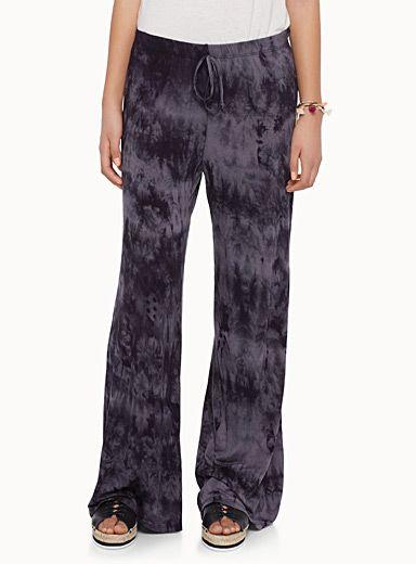 le pantalon cheville pure rayonne couleur ombr jambes larges et taille lastique. Black Bedroom Furniture Sets. Home Design Ideas