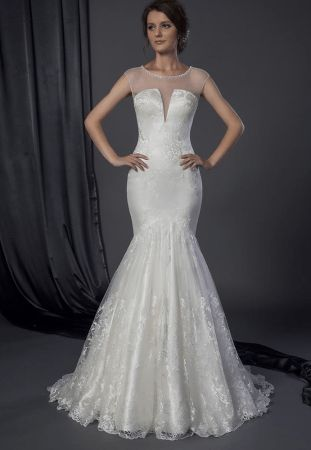 Multi-colored wedding dress oceania
