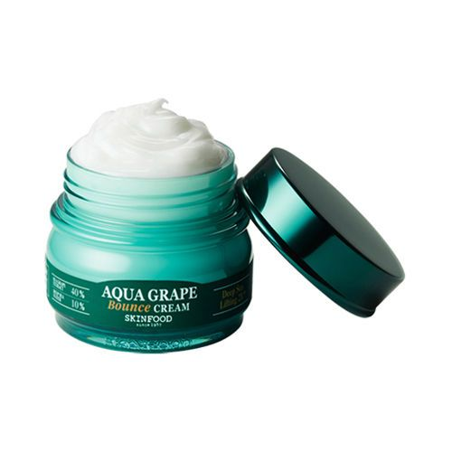 Contents : 63ml. [SKINFOOD]. Aqua Grape Bounce Cream. A high-density, ultra-moisturizing bounce cream that creates moist and firm skin. Apply an appropriate amount following skin texture. - How to use.   eBay!