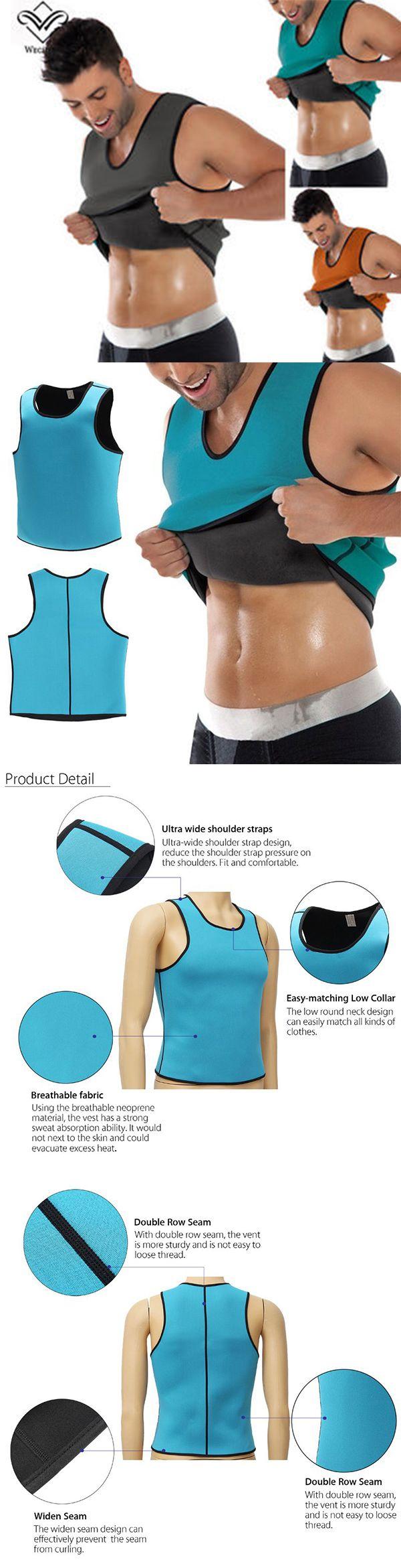 Men Sports Body Shaping Vest Slimming Underwear Fitness Training Hot Shaper