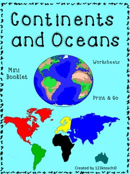 The 25 best continents and oceans ideas on pinterest continents continents and oceans mini booklet and worksheets gumiabroncs Image collections