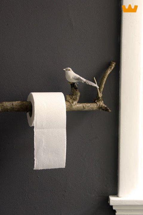 DIY closetrolhouder vogel - www.witzand.nl