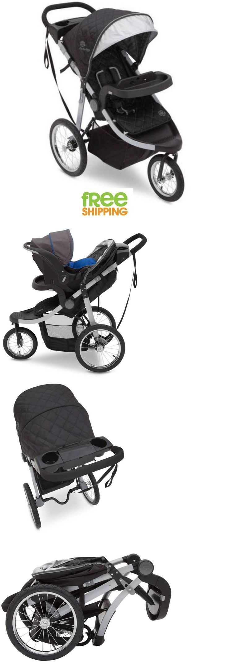 Baby: 3 Wheel Jogging Stroller Folding Baby Carriage Kids Child Pram Gray New! BUY IT NOW ONLY: $117.74