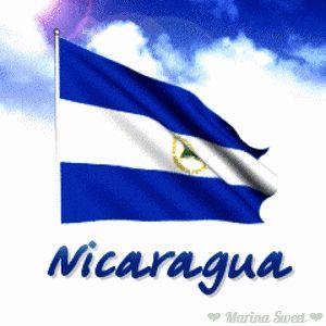 Bandera de Nicaragua animada