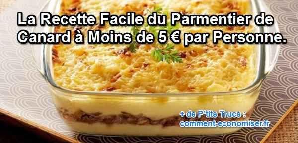 Des oignons, quelques brins de ciboulette, un peu de crème fraîche et du canard effiloché sous un lit de pommes de terre fondantes… ça vous tente ? Le parmentier de canard est un plat onctueux et nourrissant qui sort de l'ordinaire.  Découvrez l'astuce ici : http://www.comment-economiser.fr/parmentier-canard.html?utm_content=buffer99ce6&utm_medium=social&utm_source=pinterest.com&utm_campaign=buffer