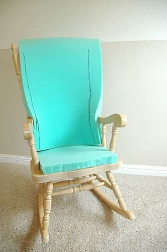 Now I know what to do with my old, but wonderfully comfortable rocking chair.  Mine has pads already, but they are really ugly.  The slip cover will make it as wonderful to see, as it is to rest apon.  I'm really glad I hung on to it.  Thanks for the great idea.