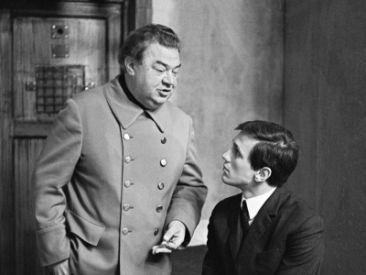 """""""Epilog norymberski"""" z 1969 r. to zapis procesu hitlerowskich zbrodniarzy (fot. TVP)"""