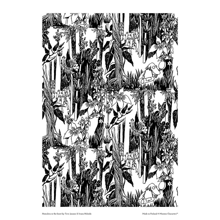 Moomin poster - Hemulens in the forest by Tove Jansson