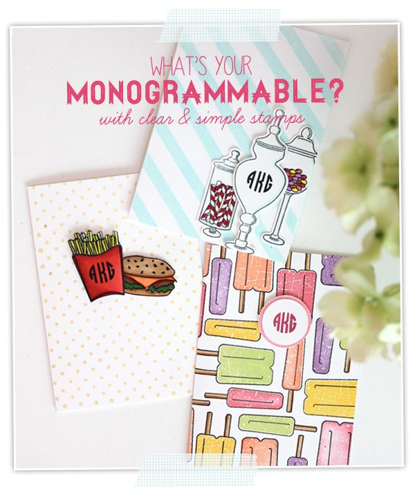 What's Your Monogrammable | Damask Love Blog | Monogram Stationery with Clear and Simple Stamps Alpha Mini - full supply list on blog