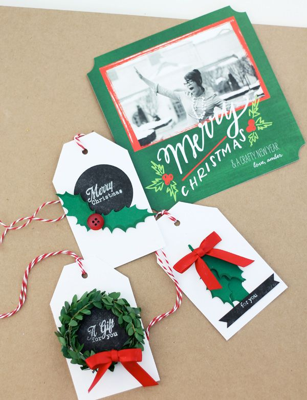 Learn how to make a holiday tag kit with Shutterfly's Perfectly Personal™ holiday cards. See how Amber got creative.